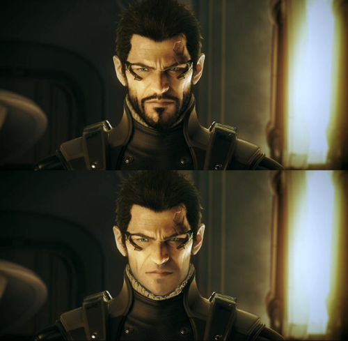 nubb:  oh dear.. Adam Jensen, with and without his beard xD the power of boredom at 3 a.m.  i'm not sure which one i like more..