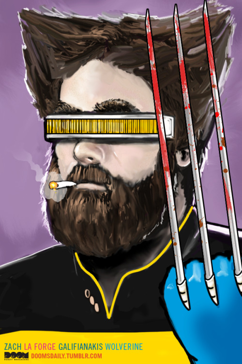 Zach La Forge Galifianakis Wolverine by Robert Mangaoang / Doom CMYK