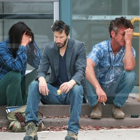 Keanu has joined Sean Penn in his sadness. Submitted by Frank Birkner.
