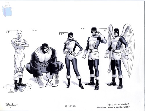 Jean Grey X-Men Model Sheet By Mike Mayhew  -