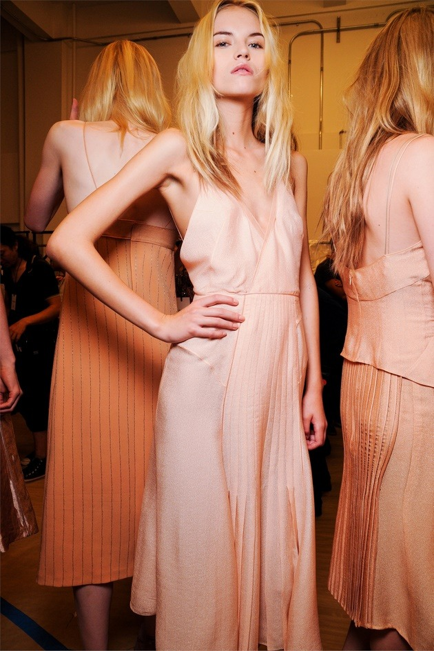 Backstage at Calvin Klein, Spring Summer 2012
