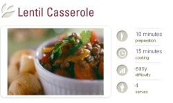 What's on the menu tonight: http://www.sanitarium.com.au/recipes/lentil-casserole As all other Sanitarium recipes have been a hit, I'm hoping this one will be the same.