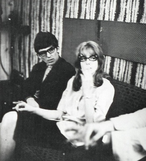 thegilly:  George and Jane Asher in a dressing room in 1964. Photo by Dezo Hoffmann.