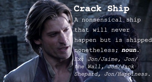 Word of the Day: Crack Ship.