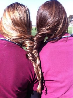 smellslikesummerr:  mine and the best friends hair,help us get more notes! <3