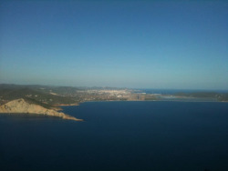 my favourite view, final descent into ibiza, beautiful island and not bad for getting pissed up either haha