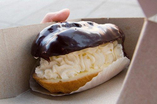 chocolate eclair is heaven!