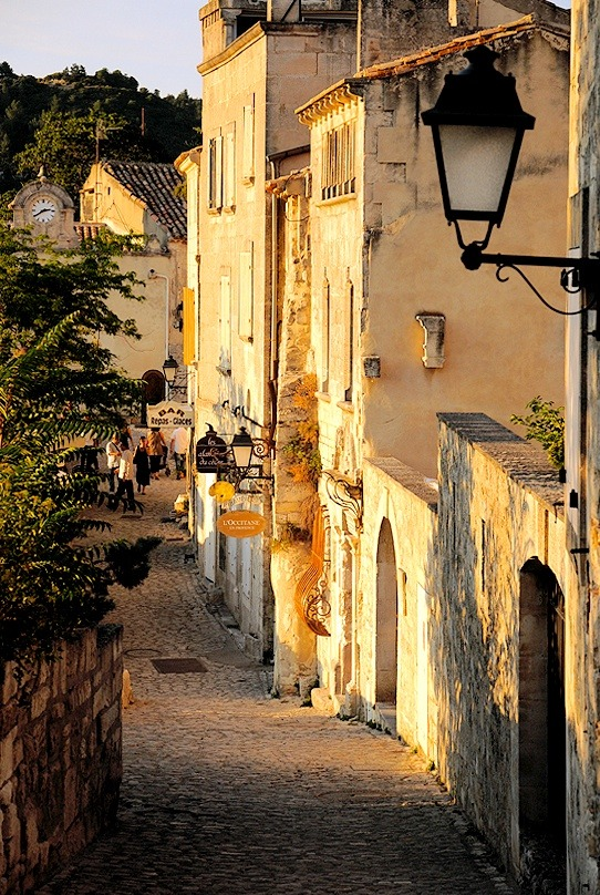 | ♕ |  Sunset alley in Les Baux-de-Provence  | by © S. Lo | via ysvoice