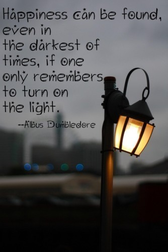 Wise words from Albus Dumbledore.
