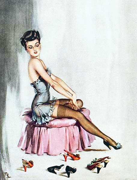 vintagegal:  art by David Wright 1945 GPOY