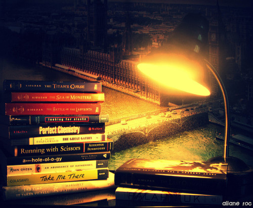 agraydusk:  Books by nevinnost on Flickr.