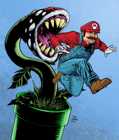Mario  - by Craig Cermak deviantart || website