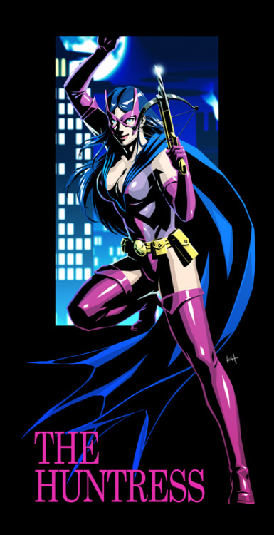 timetravelandrocketpoweredapes:  Night of the Huntress by kit-kit-kit  Old school win!