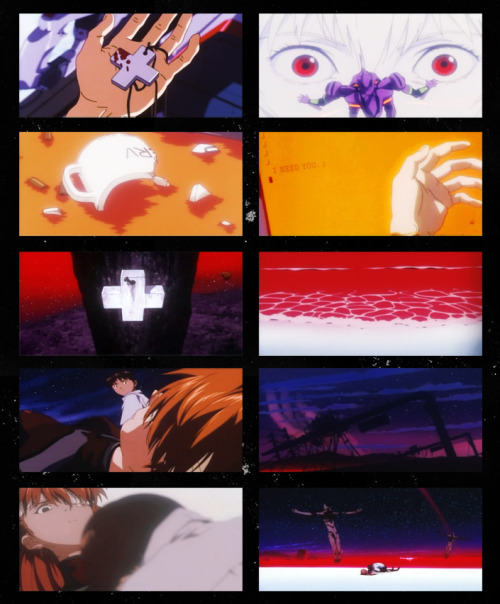 "End of Evangelion  ""After all, you are alive, so you will always have the chance to be  happy. As long as the sun, the moon, and the earth exist, everything  will be all right."""