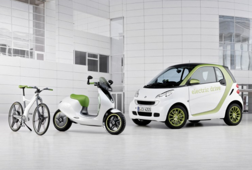 allaboutsmart:  Smart Fortwo Electric Drive, Scooter and eBike