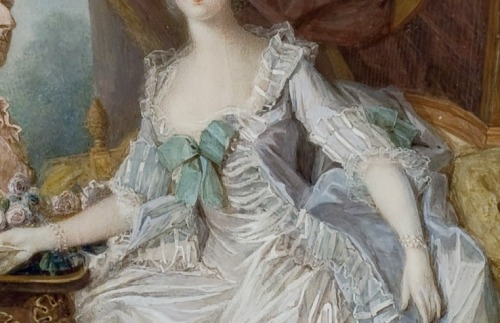 Portrait of Marie Antoinette by Jean-Laurent Mosnier, 1775.