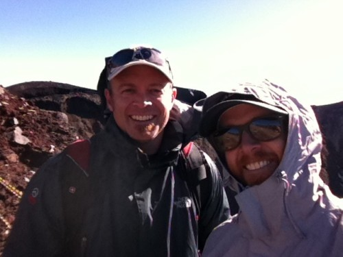 "caroleeone:  ssjumi:  phoenixlp:  ""My brother and I made it to the top of Mt Fuji today… Amazing trip! Strongly recommend!"" (via http://yfrog.com/z/nygpkcj)  They look so much alike, like… clones o_O""  Phi1 & Phi2 lol jk :)"