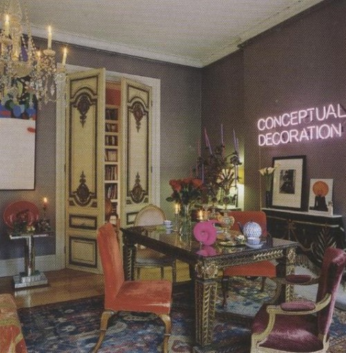 fuckyeahisabellablow:  Isabella Blow's drawing room in her Belgravia flat