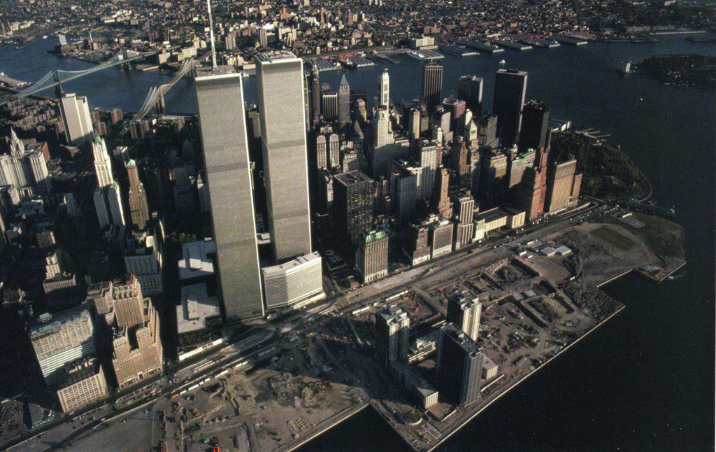 View of Lower Manhattan in 1983