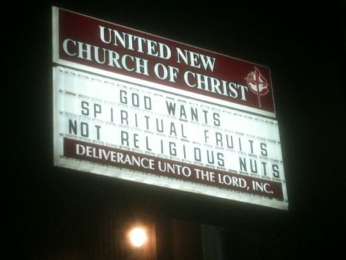 lizardart:  (via church sign sunday: spiritual fruits | god hates protesters)