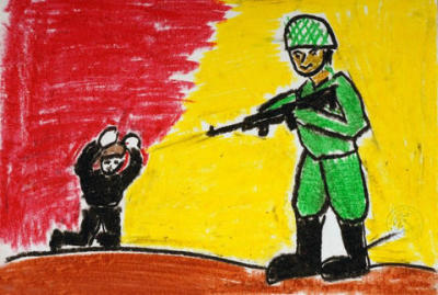 thefreeworld:  Thefreeworld: A Gaza child's drawing. can I say…PSTD?