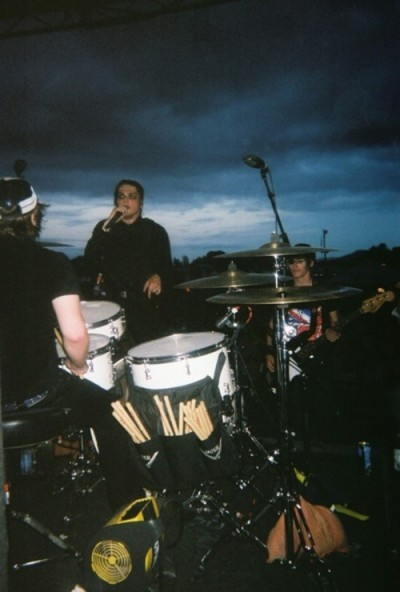 "twentysixdays:  Patrick Stump playing with MCR, Warped Tour 2005 ""I played with My Chemical Romance once, at Warped tour. I played a song with them on drums. It was awesome. I was really nervous though because I hadn't played drums in, like, 5 years. I'm sitting in this little trailer, like a backstage room, and I'm sitting there and I'm practising my ass off and Gerard's like, ""dude! It's OK, man, calm down!"", and I'm like ""NO NO NO! I haven't played in FIVE YEARS! YOU DON'T UNDERSTAND!"". I took it really seriously and the song's, like, two minutes long.Was it one of their really fast ones?Yeah, it was…was it 'Thank You For The Venom'? Can't remember the name of it, can't remember what song I played. But it was one of their fast ones.That's SO unfair. You wanna be doing one of their slow ballads.I chose that song! And I did pretty well, except Bob Bryar, the drummer, likes to set his drums pretty far away, and he plays with his arms instead of his wrists. And so I couldn't come up with some of the really fast fills, cos I don't have the arm strength that he does. He's a lot more buff than people give him credit for."""