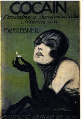 cocaine art old poster 1920s art woman drugs