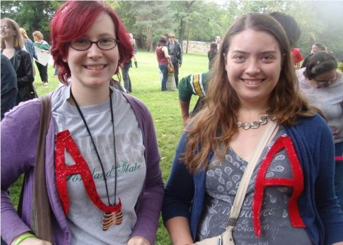 Yes! When we went to SlutWalk in Brisbane, my boyfriend's fiance wore an 'A' pinned to her top. I think I'll do the same at next year's SlutWalk. :)