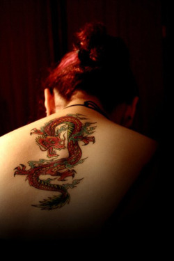 wolfdancer:  wolfdancer:- Woman with a Dragon tattoo down her back