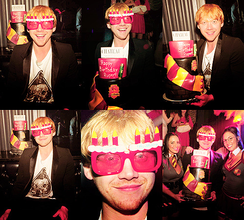 Rupert Grint celebrating birthday at Chateau Nightclub, Las Vegas (Sept 2011)