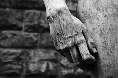Detail of Michelangelo's David.