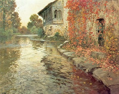 fletchingarrows:  rosebiar:  Frits Thaulow ~ Landscape at Elv, France, 1886  more autumnal aesthetics   ]]>