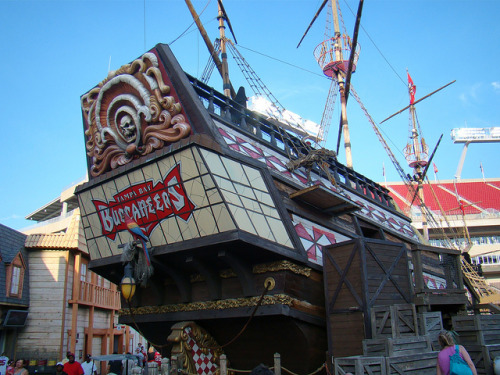 stadium-love-:  Pirate Ship at Raymond James Stadium, home of the Tampa Bay Buccaneers. by Hoosierguy Jeff