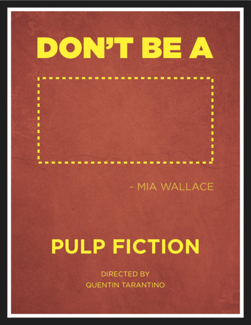 60 Favorite films of all time. #10-Pulp Fiction. Directed by Quentin Tarantino. Writen by Quentin Tarantio & Roger Avery. Story by Quentin Taranito & Roger Avery. Starring:Samuel L. Jackson, John Travolta, Uma Thurman, Tim Roth, Harvey Keitel, Ving Rhames, Bruce Willis, Amanda Plummer, Christopher Walken, Quentin Tarantino, Phil Lamarr, Maria De Medeiros, Rosanna Arquette, & Eric Stoltz. Released:1994.