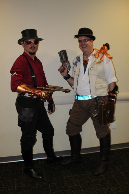My lovely Tampa Steampunk friends, Sabre and Michael. Photo by TampaSteampunk.