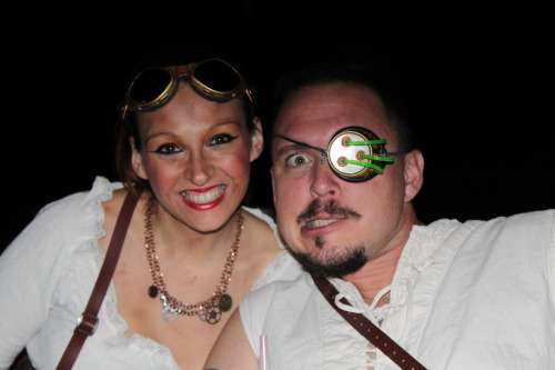Sabre and his lovely fiance, Chrissy, at SciFi Night at the Tampa Pitcher Show. Photo by TampaSteampunk.