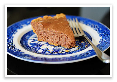 Chocolate Candy Bar Pie.This is one naughty pie, but it's so, so good!  Recipe link below photo