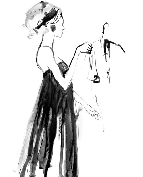 A very quick, candid sketch of a model rehearsing in the runway at the Wix Lounge for New Form Perspective Fashion Show featuring designer Gail Travis, Sept. 14, 2011.  Visit the WouldYouRockThis? facebook page to view photos from the event.