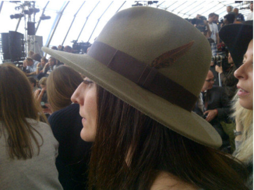 I've got a new hat. image courtesy of Fashion Editor at Large hat by Aspinal of London www.graziadaily.co.uk