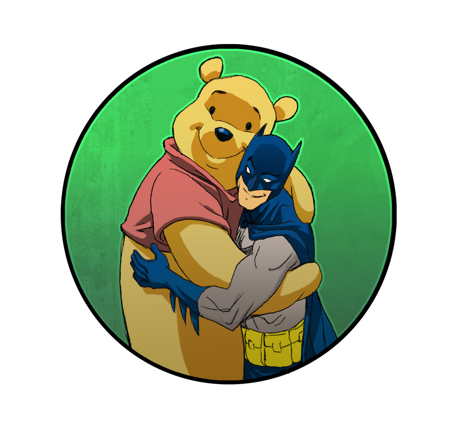 herochan:  Batman & Pooh - By Jeff Johnson (Via: lulubonanza)