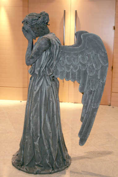 THIS is an AMAZING homemade weeping angel costume, specifics here (awesome step by step pics). I'm definitely going to try to incorporate some of her costume tips to the statue that I make. This is just unbelievable.