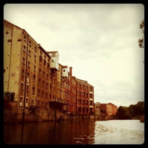Building on the water in Bath, England.  (Taken with instagram)