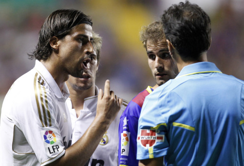 amistosa:  18 Sept. 2011: Sami Khedira after his red card vs. Levante.