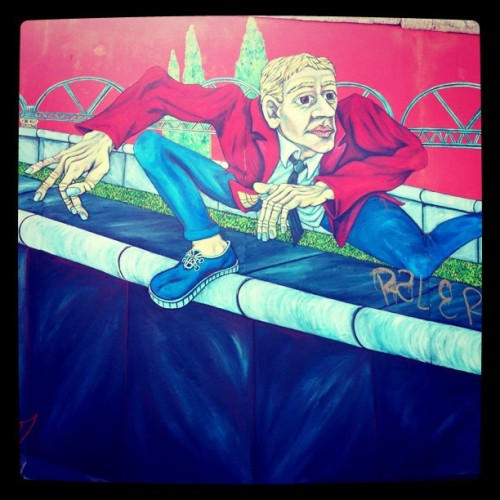 A mural on the Berlin wall.  (Taken with instagram)