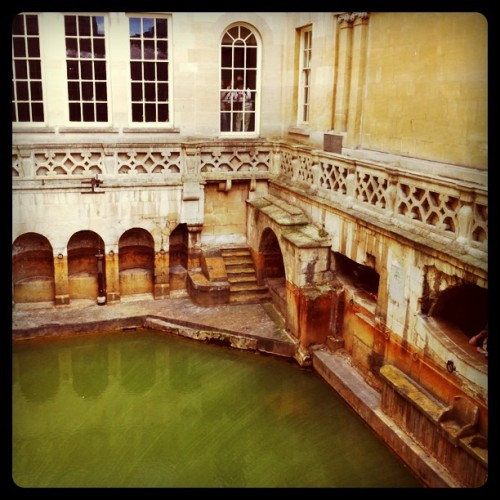 A Roman bath house in Bath, England (Taken with instagram)