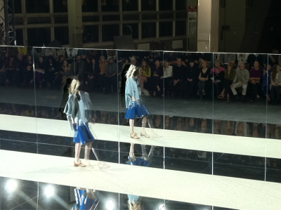 Mirrored runway at Acne #LFW