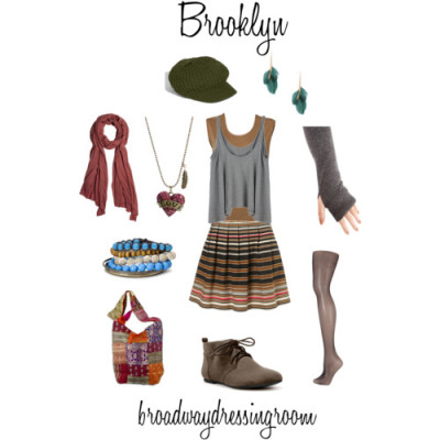 Brooklyn by broadwaydressingroom featuring a black hosieryT by Alexander Wang spandex top, $52Duffy NY cashmere top, £45Scoop neck top, $30Stripe skirt, $76Monsoon black hosiery, £5Zara leather booties, $50Shoulder hand bag, $22Mixit blue jewelry, $7.50Betsey Johnson metal necklace, $50Dangling jewelry, $4.80American Vintage scarve, £20Echo diamond hat, $35