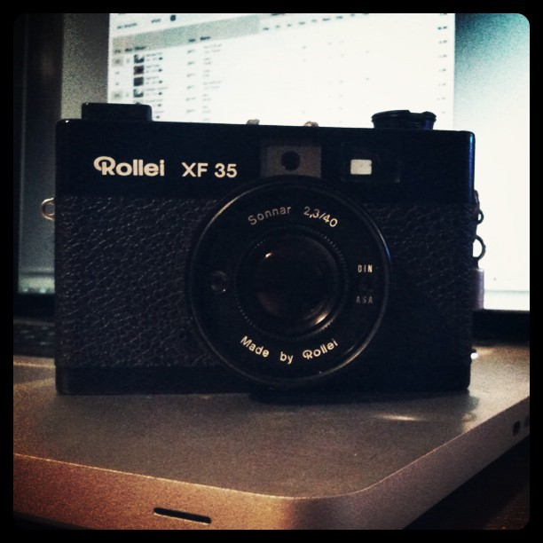 Best Goodwill find ever: near-mint Rollei XF 35 mini rangefinder for only $3.00!