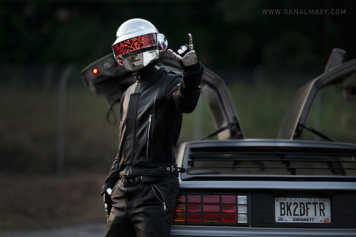 cocktopimp:  gridmarked:  massoco:  Daft Punk DeLorean Shoot (by Volpin)  GDI Volpin. Just. You're making the rest of us look bad >:c  No he's trying to impregnate the world visually…and it's working.