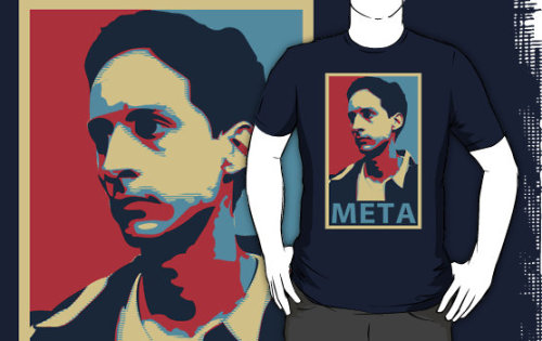 the-rbc:  Keep calm and stay meta and buy this shirt featuring Abed, by Blayde at Redbubble